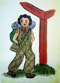 Artwork on this page:Terezin survivorHelga Weiss