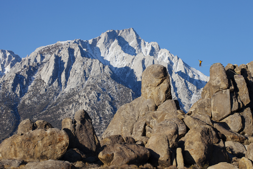 Nothing will quench the fire of one who seeks adventure... Preston Alden finds himself amongst the giants during a single day escape form the snow  in Alabama Hills with Braden Mayfield.
