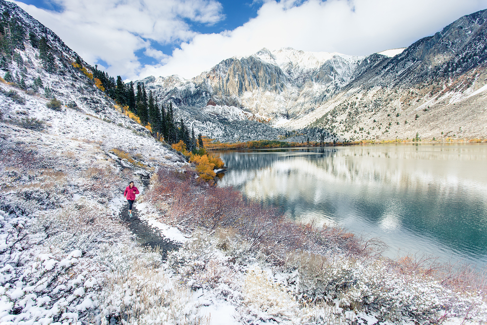 Samara Shugart's 5k loop around Convict Lake, CA Photo: Cody Tuttle ©2014