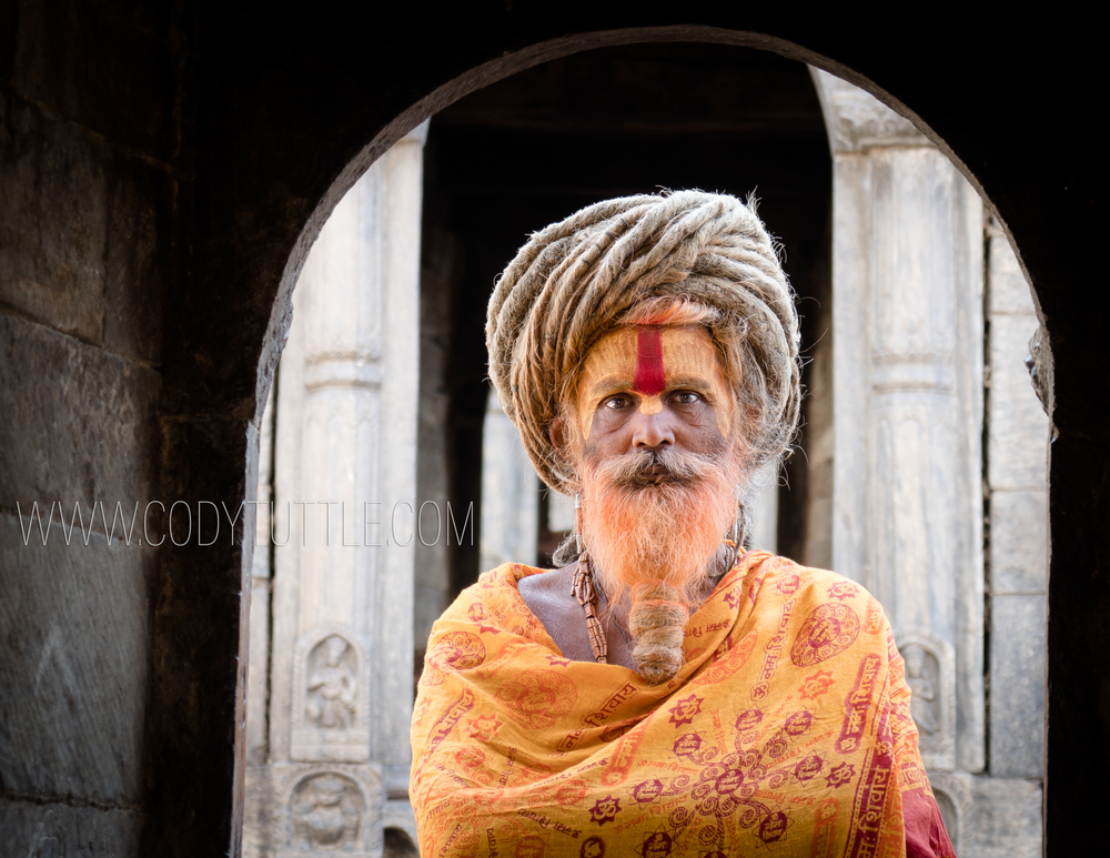 Nepali Sadhu at the Pashupatinath temple in Kathmandu, Nepal     Photo: Cody Tuttle