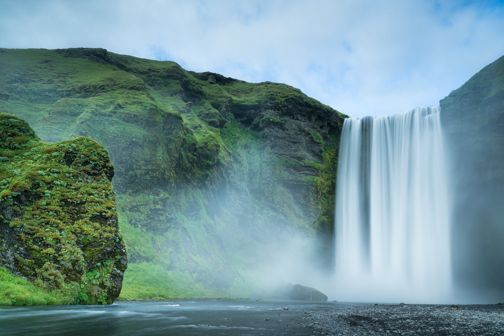 Skogafoss one of Iceland's most iconic waterfalls. photo: cody tuttle