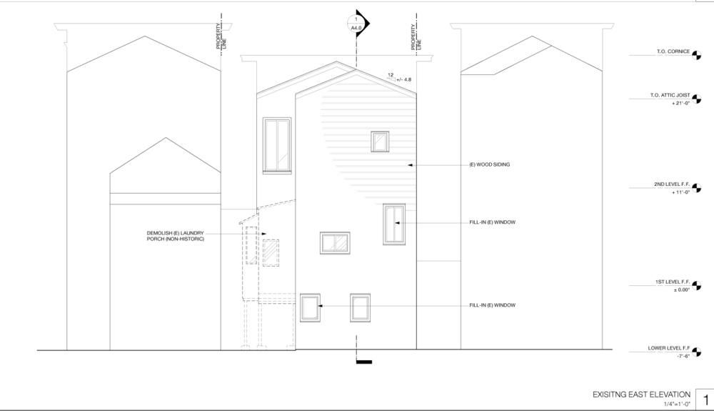 And the proposed elevation: