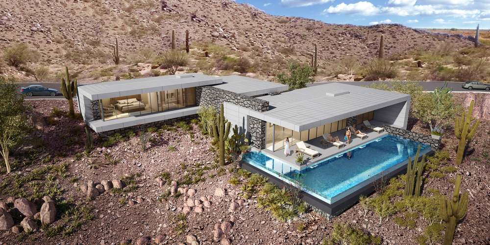 Contemporary Custom Home, Desert Mountain, Arizona