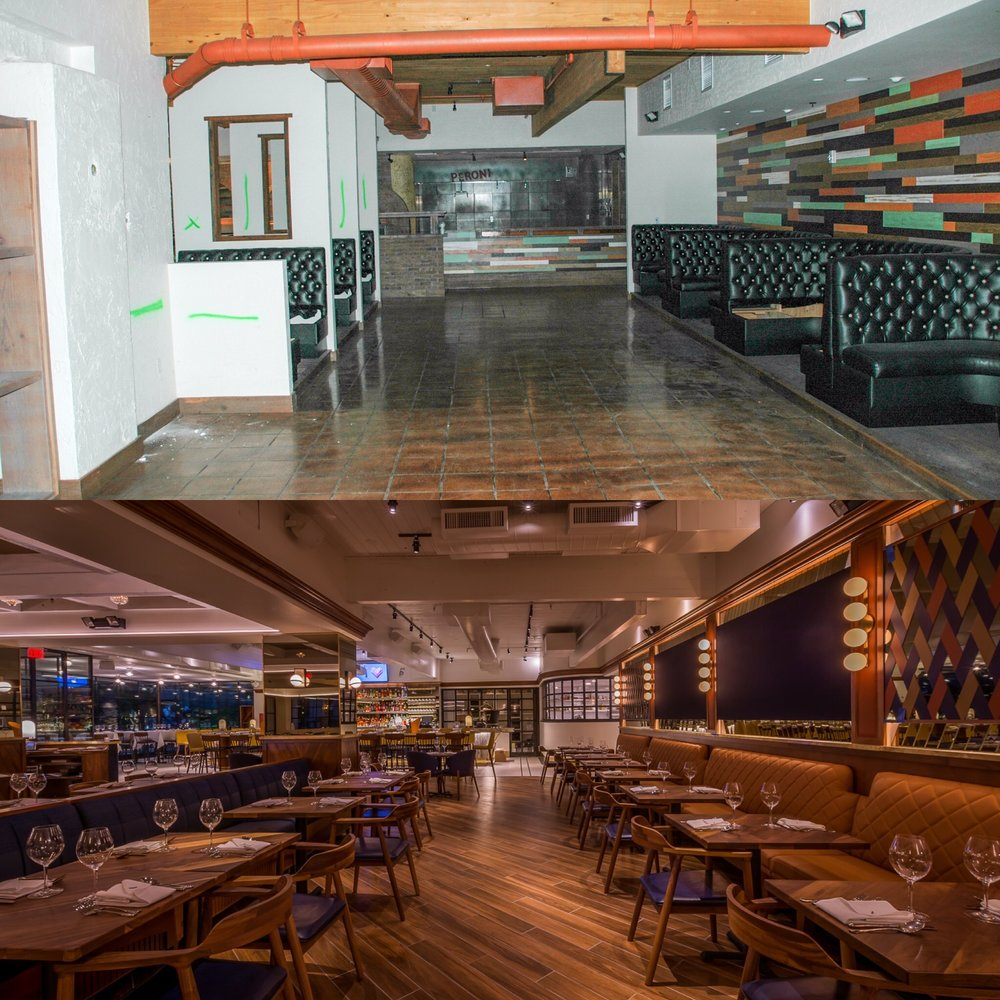 Fat Ox Restaurant - Main Dining Before & After