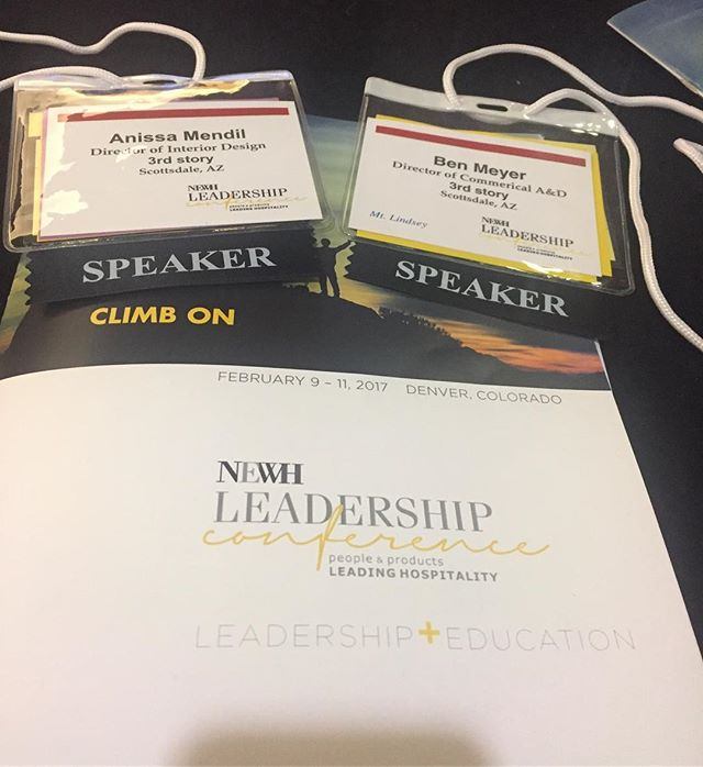 Thank you @newhinc for inviting us to be on the leadership panel. An absolute honour. #newhleadershipconference2017 #newh #thehospitalitydesignnetwork #3rdstory