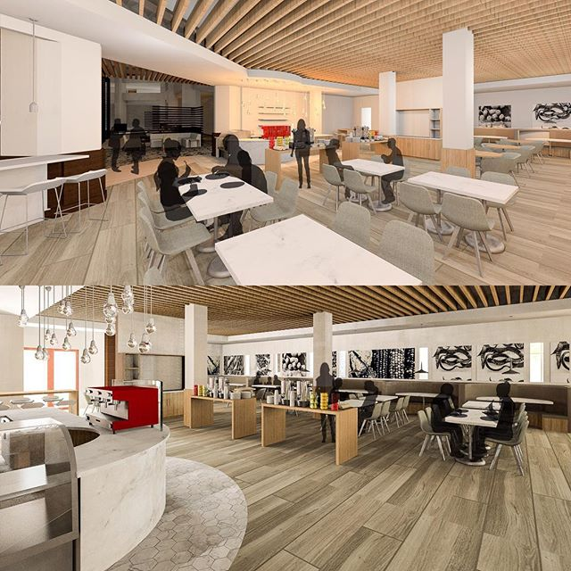 New F&B concept for Hilton Mesa. #foodandbeverage #hiltonmesa #interiordesign #architecture #3rdstory #schemedesign #conceptrenders