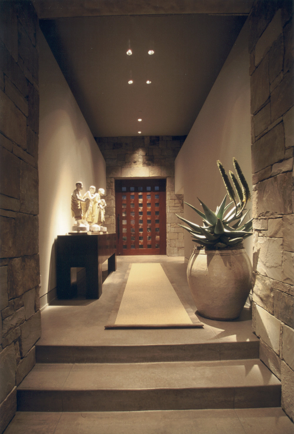 desert contemporary  foyer front door.jpg