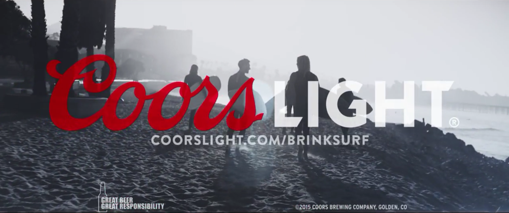 Coors light Refresh the world Brink