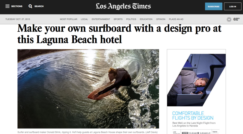 LA times Surf Shape Stay