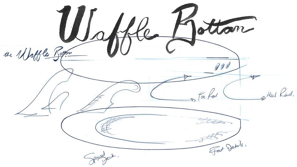 a Waffle Bottom