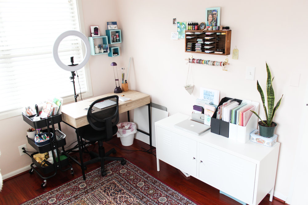 Small Space Apartment Craft Room Tour Storage On A Budget