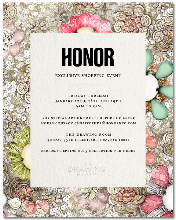 JANUARY 27th THROUGH JANUARY 29th 9AM-5PM  http://www.honornyc.com/