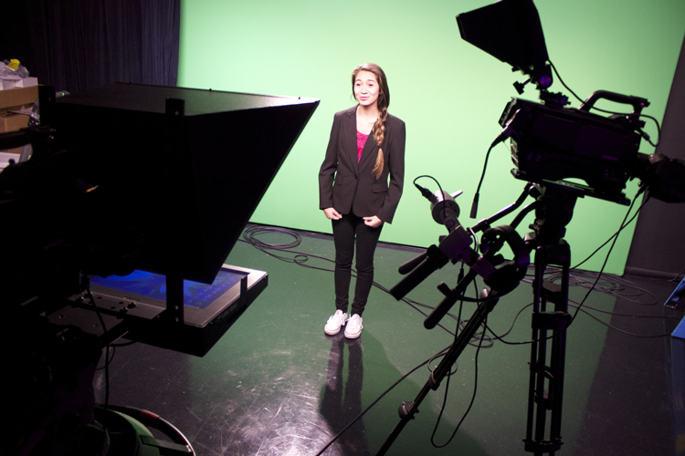 Tennessee anchor Raneem Imam actually recited lines from her role in  The 25th Annual Putnam County Spelling Bee  when taping her video spot for the  Election Night 2014  open (which doesn't include audio from the anchors). See if you can tell when you watch the open on November 4th.