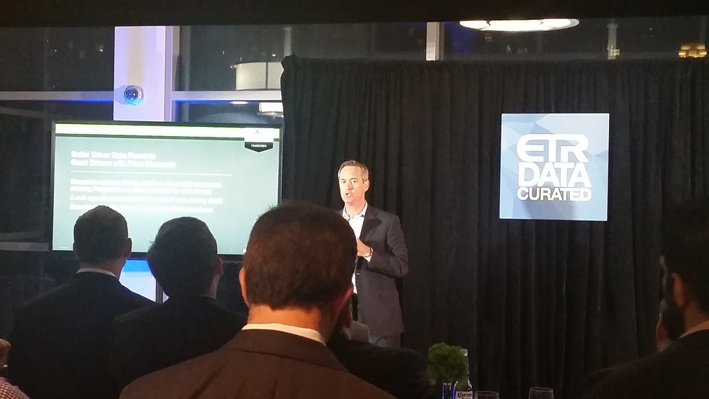 Hortonworks President Herb Cunitz presents at the ETR Data-Curated Event on September 1st 2015 in New York City