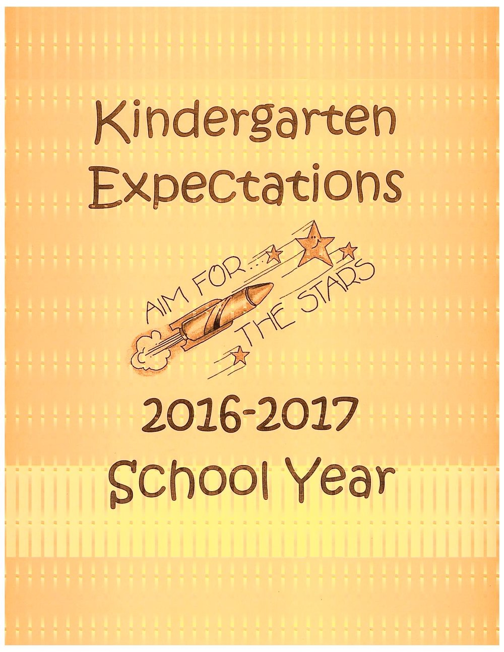 Kindergarden expectations