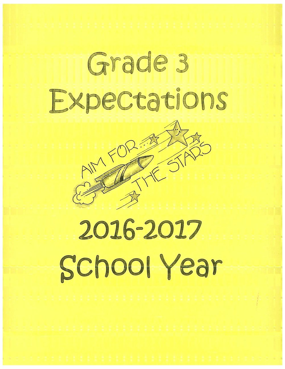 Grade 3 expectations