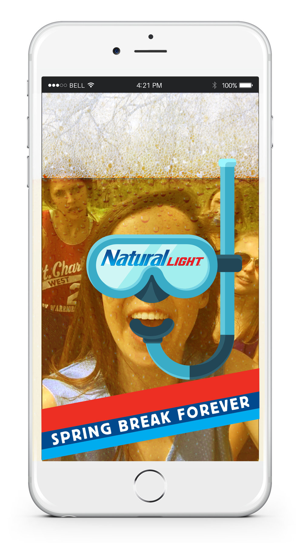 Snap Chat filter for an experiential event hosted by Natural Light