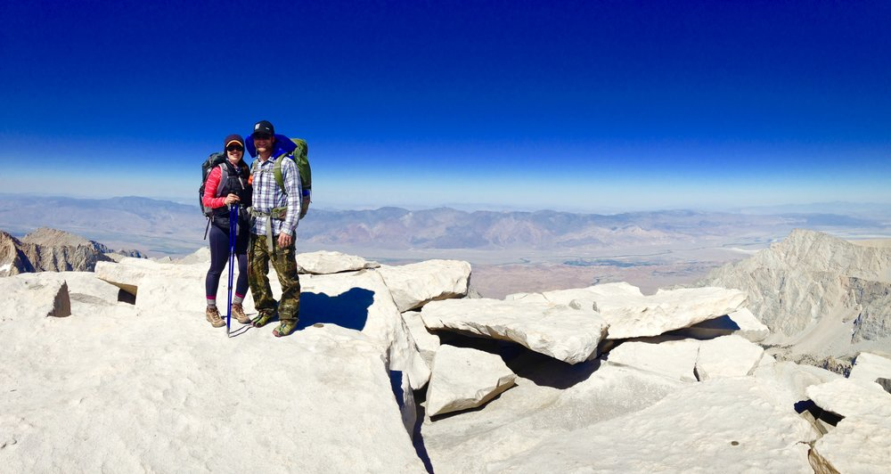 The Summit of Mount Whitney at 14,505', July 4th, 2016