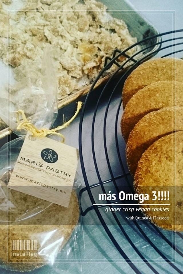 Galleta de quinoa y linaza (vegano)