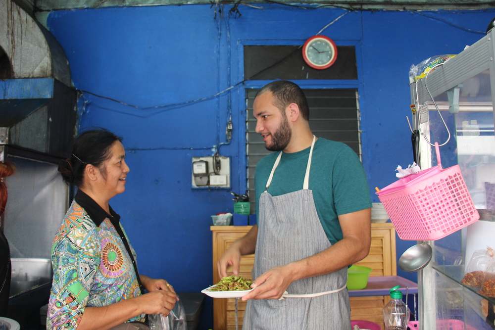 Mya Mya Thein (Sandy) and Jason in the Kitchen at Burmese Restaurant and Library