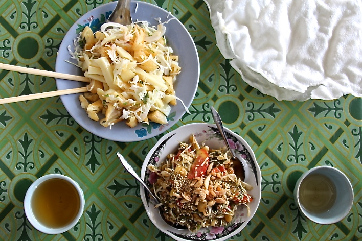 Shan Tofu Salad & Tea Leaf Salad