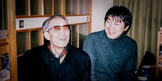 Tsuyoshi Shimamura with Master Nagano in 2000.