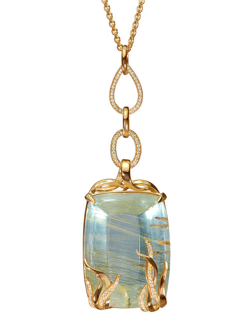 Necklaces sandra dixon studios rutilated blue topaz pendant necklace aloadofball Choice Image