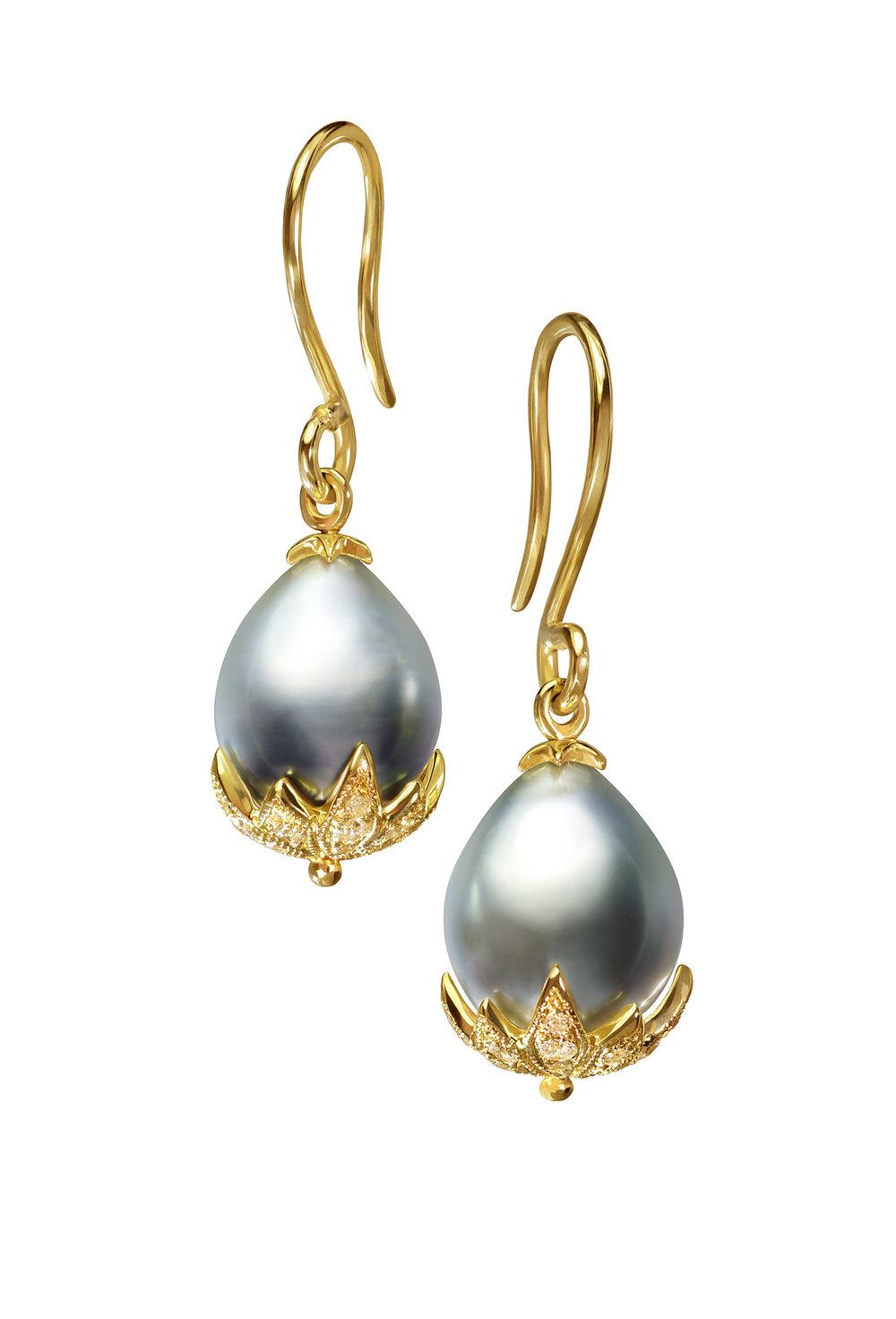 Tahitian Pearl Star Earrings
