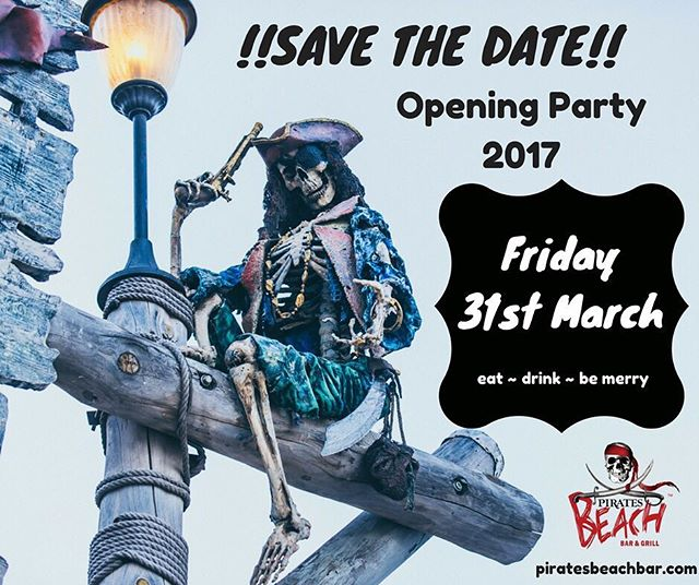 It's confirmed!!! We can't wait to see you all back again for another season! #openingparty #magaluf #magaluf2017 #maga #magalluf #piratesbeachbar #pirates #mallorca #mallorcaisland #majorca #foodies