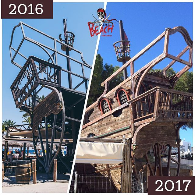 What do you think of the new look Pirates ship?? #magaluf2017 #piratesbeachbar #pirateslifeforme #pirates #mallorca #majorca #summer #maga2017 #magaluf #palmanova #magalufbeach