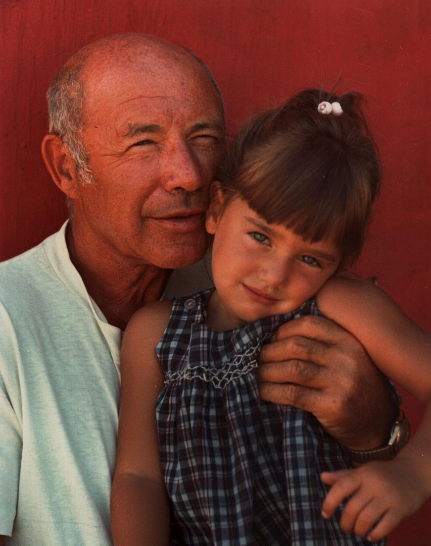 My father with his grandchild. Image Source: Elaine Jean Cooper Archive.