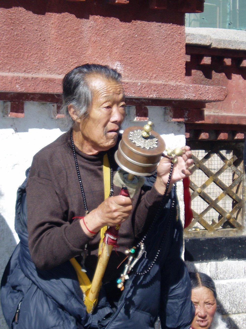 A persecuted Tibetan living in Tibet.  Photo by Elaine Jean Cooper.