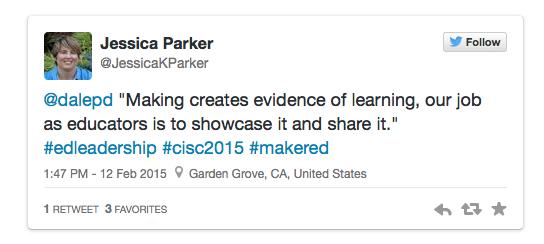 Jessica Parker Tweets at CISC Conference