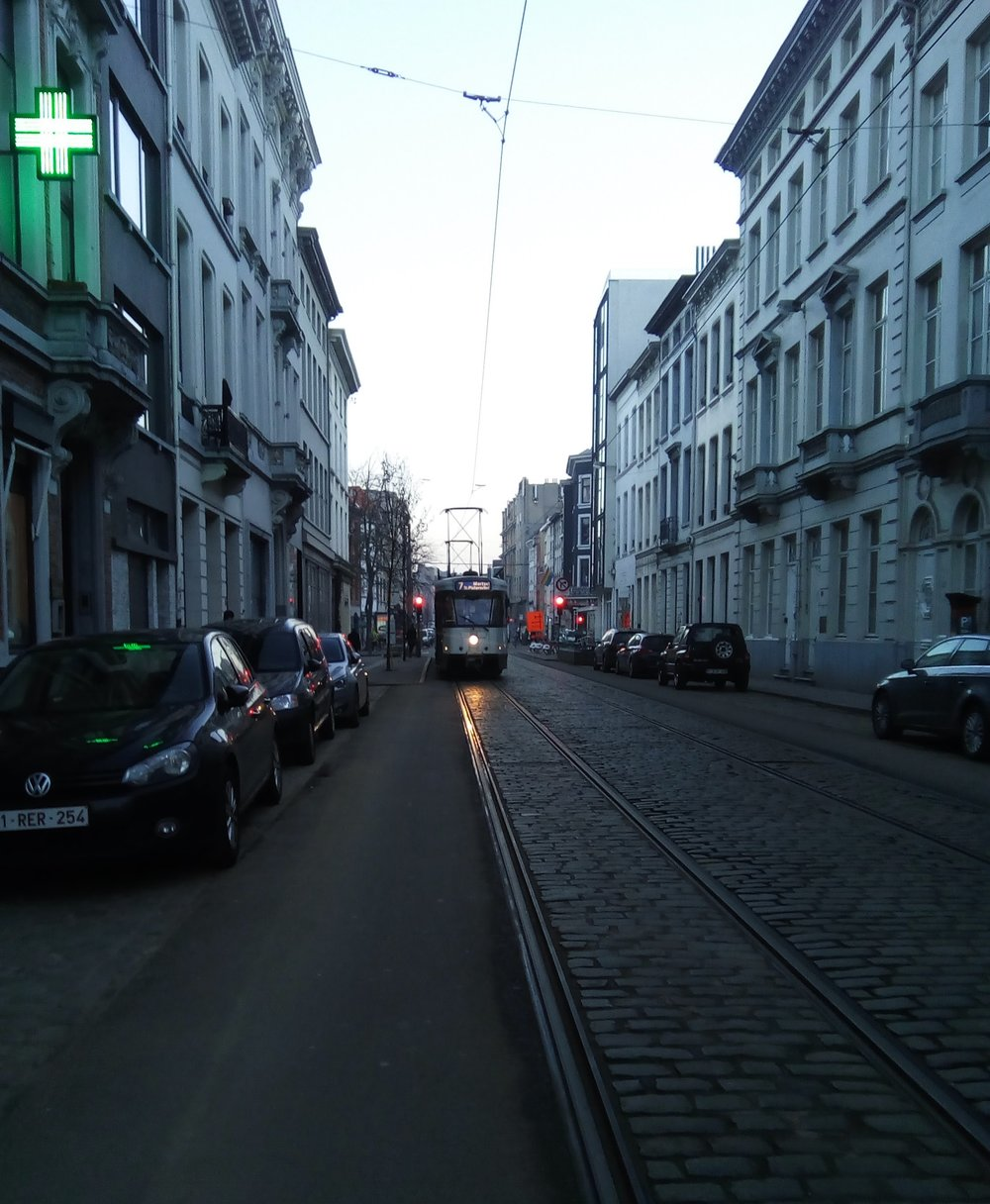 Trams and cobblestone streets