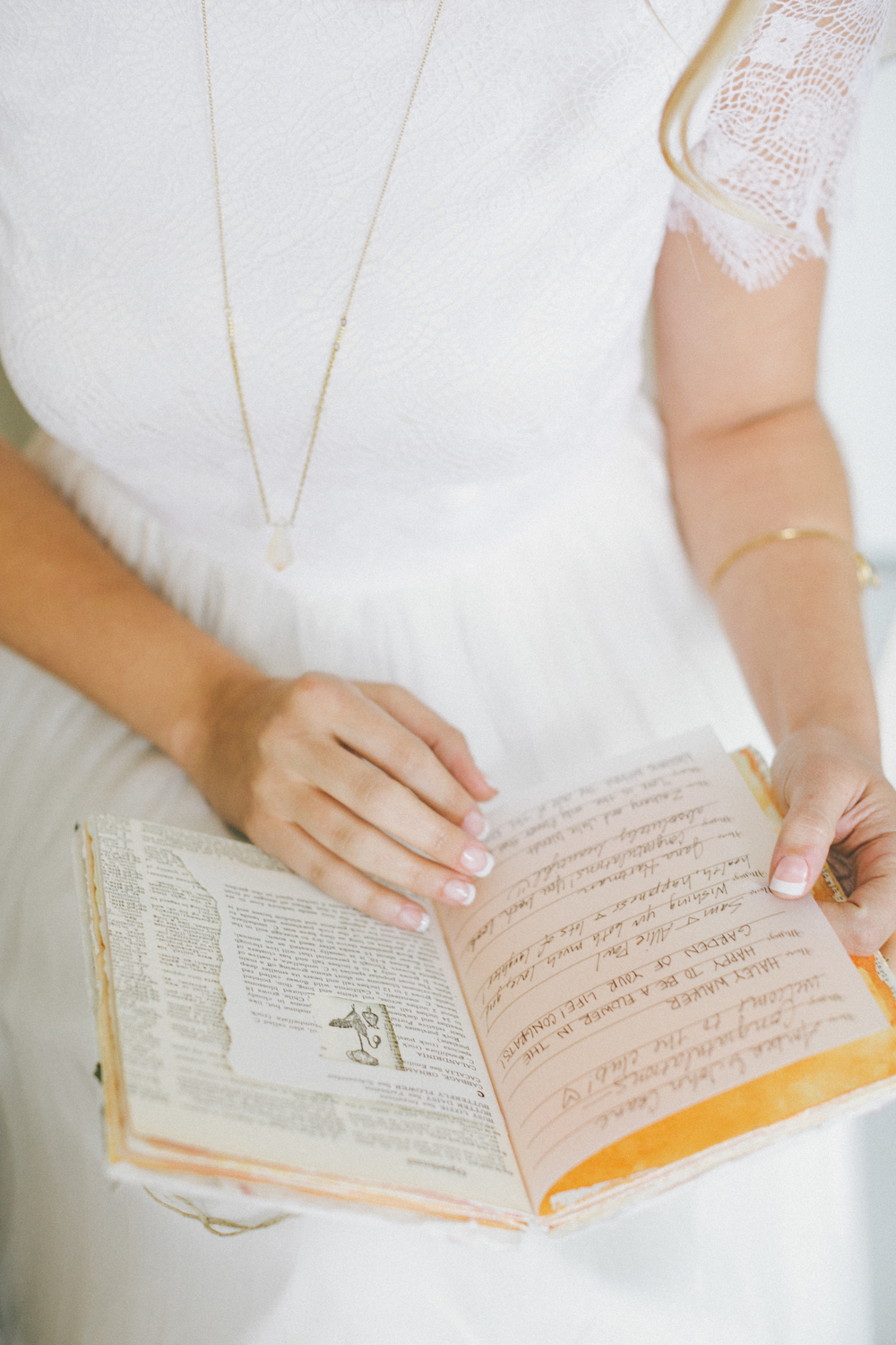 wedding book with vintage pages