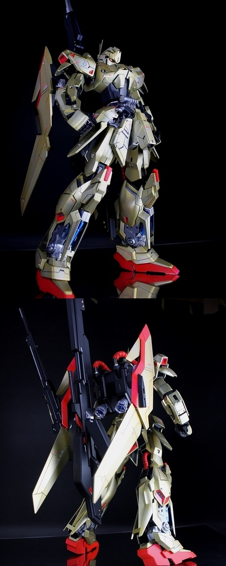 ohnicegundam :      MG 1/100 MSN-00100 Hyaku Shiki - Custom Build   Modeled by   Kouichi