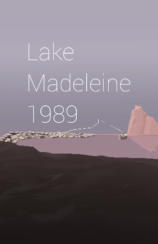 my new game Lake Madeleine is out.  play it here: keanerie.itch.io/lake-madeleine it's a fishing game, sort of, and is as short or as long as you make it.