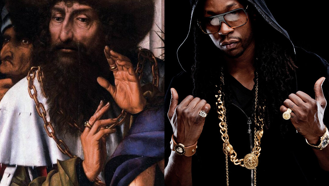 b4-16: Left: Quentin Massys. Ecce Homo-1520 - Right: 2 Chainz