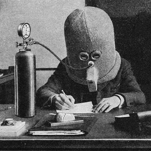 bookpatrol :      Isolator | a 1925 invention by science fiction pioneer Hugh Gernsbeck to focus the mind when reading or writing      via