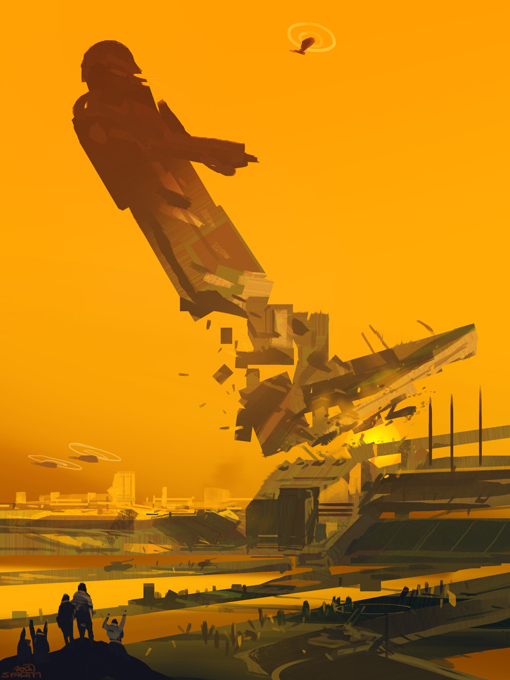 "sparth :     30 minutes. ""destruction of a statue""."