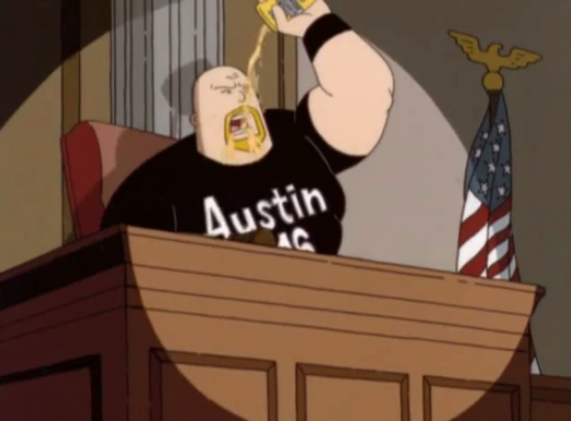 cameos :     stone cold as a judge on the dilbert cartoon   that show was ahead of its time