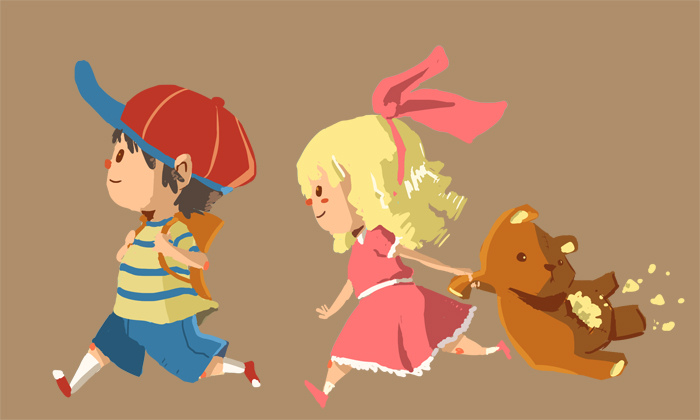 stag-beetles: Earthbound - Ness and Paula by *TehKiah