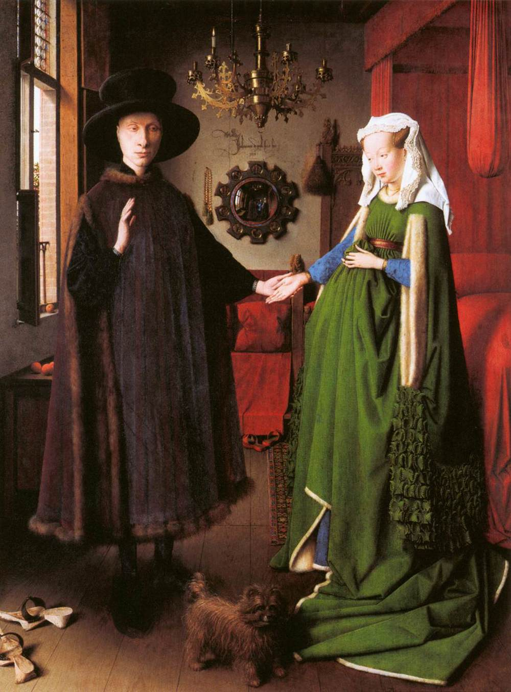 –   The Arnolfini Marriage,  Jan van Eyck (1434)