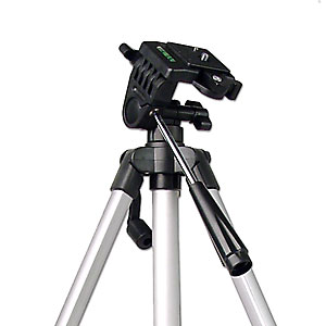 The tripod you probably already have, but shouldn't! It is designed for camcorders inside the home. The legs don't adjust separately so it's problematic on uneven ground and the head cannot be leveled.