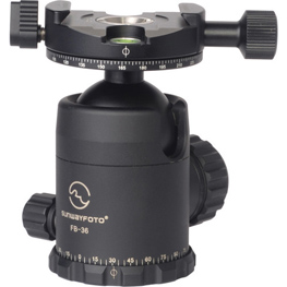 A panoramic head lets you pan the quick release clamp independently, once the ball head has been leveled.