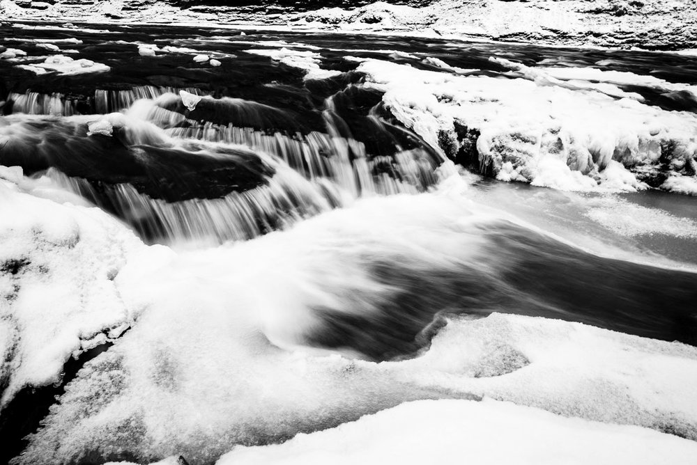 Icy stream © Allison Richards