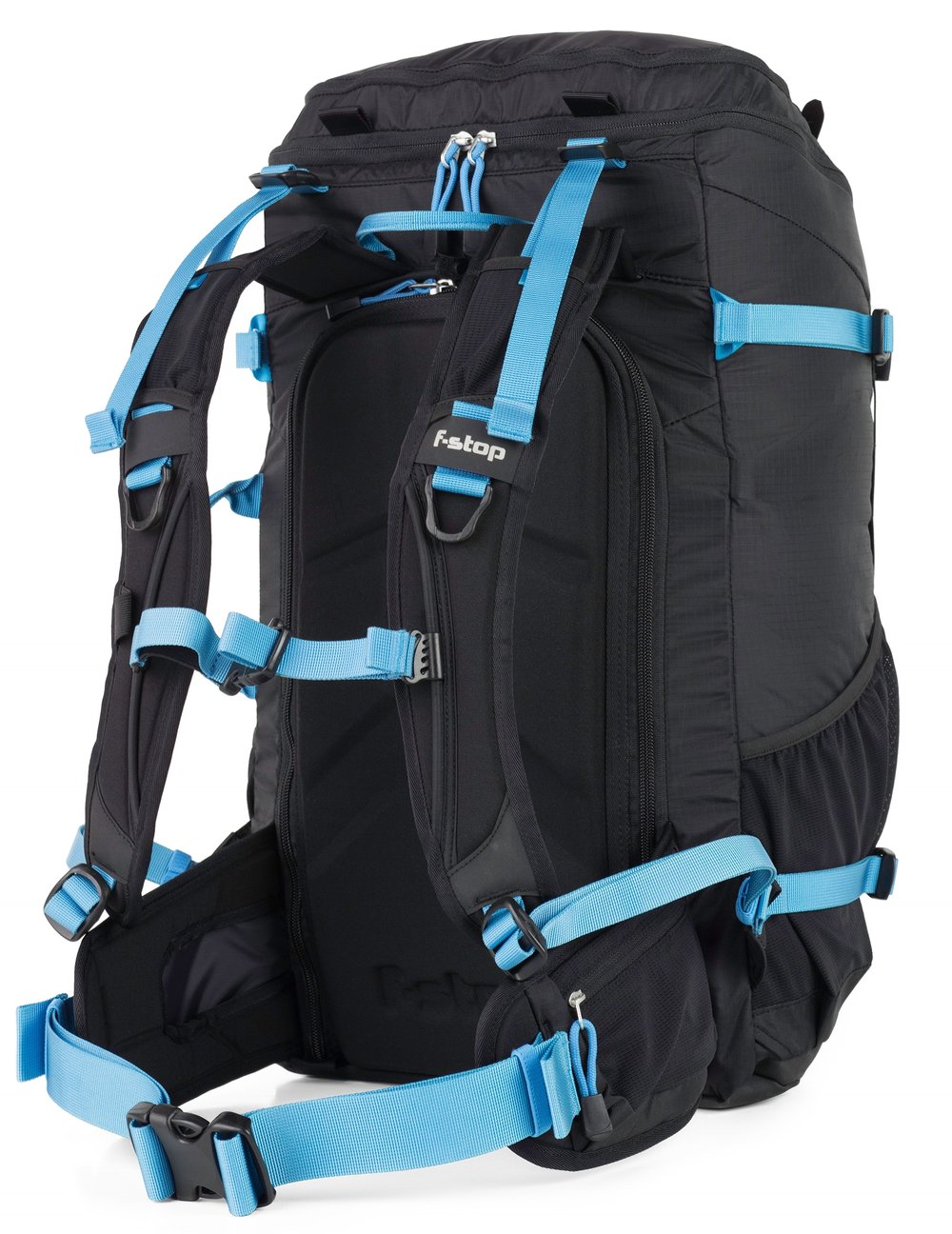 Allie prefers an F-Stop Kashmir, because it's designed specifically for a woman's shorter torso, distributing the weight more ergonomically on her hips. A men's backpack puts too much of the weight on her shoulders, leading to fatigue. There are very few camera bags for women out there with thoughtful design like this!