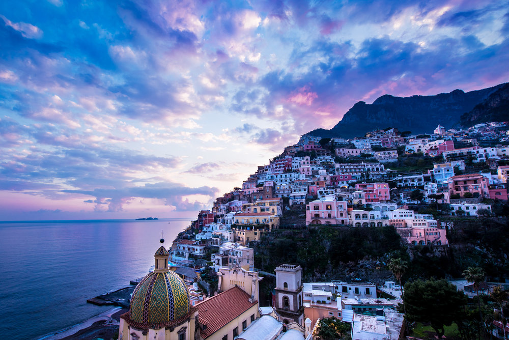 Positano, sunset © Allie Richards