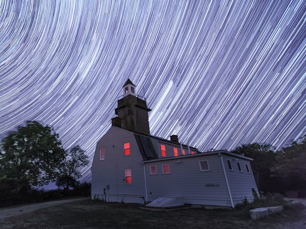 "When you face a direction other than North, the stars leave trails that are not circular. People think this is a ""meteor shower"". The joke's on them."