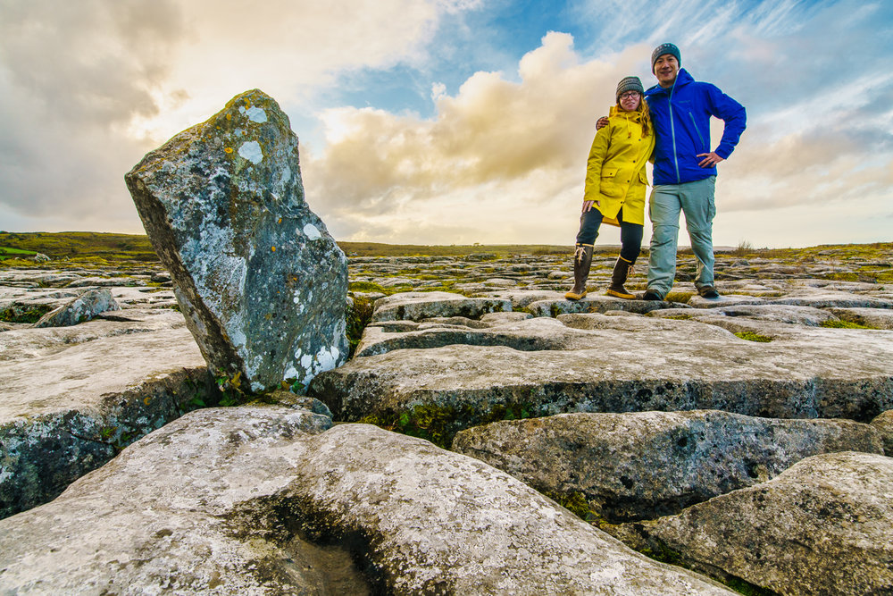 Paul and I in The Burren